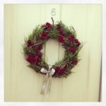 door wreath Dec 2012